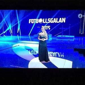 Anna Brolin är programledare för Fotbollsgalan