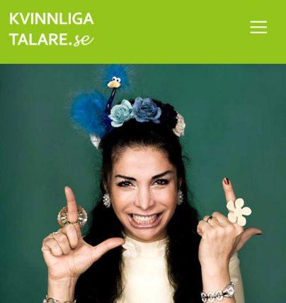 Boka vår nya komiker och talare Zinat Pirzadeh för standup eller föreläsning.