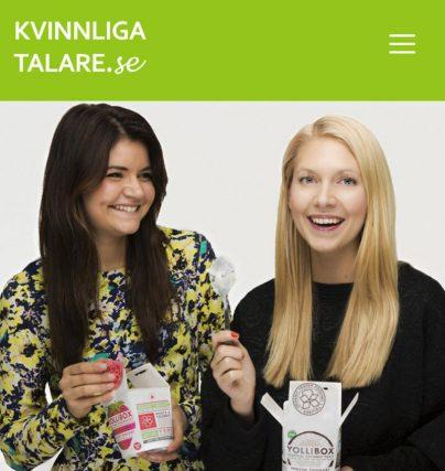 Boka en föreläsning med Yollibox-grundarna Sofie Stenmark och Victoria Carlsson.