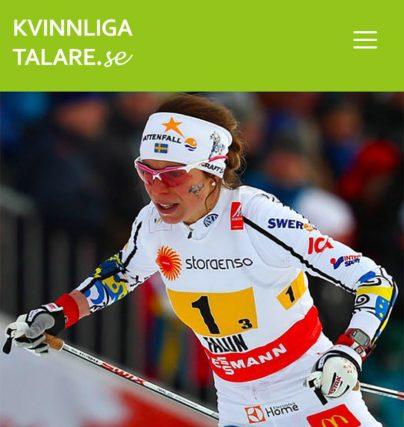Boka en föreläsning med skidåkaren Maria Rydqvist på tema jämställdhet.