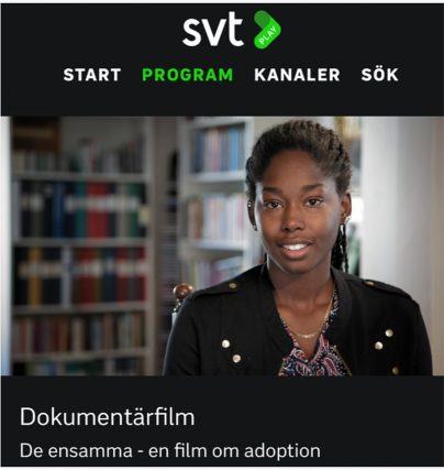 Tatiana Håkanson från SVT dokumentären De ensamma föreläser om adoption, integration och rasism.