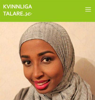 Boka en föreläsning med Kowsar Aden om integration, språk, ensamkommande flyktingbarn eller den somaliska kulturen.