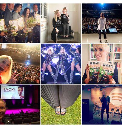 Talarförmedlingen Kvinnligatalares bästa bilder på Instagram enligt följarna.