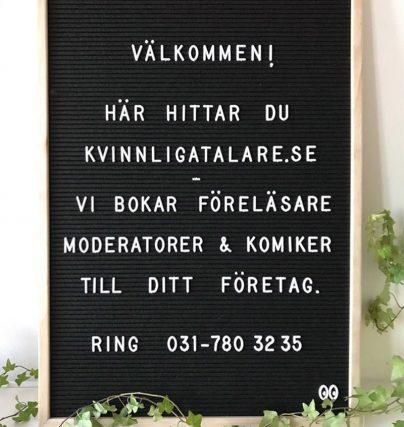 Boka en föreläsare, moderator eller komiker hos Kvinnligtalare.se!