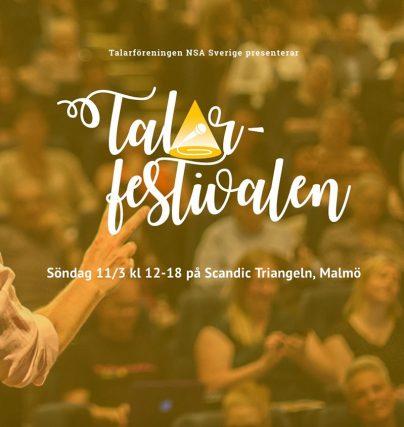 Talarfestivalen arrangeras för första gången i Malmö den 11 mars med föreläsare och föredragshållare från hela Sverge.