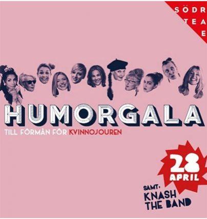 Humorgala med kvinnliga komiker på Södra Teatern 28 april.