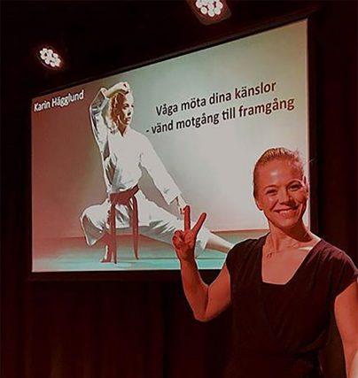 Föreläsare Karin Hägglund trollbinder publiken säger senaste kunden!