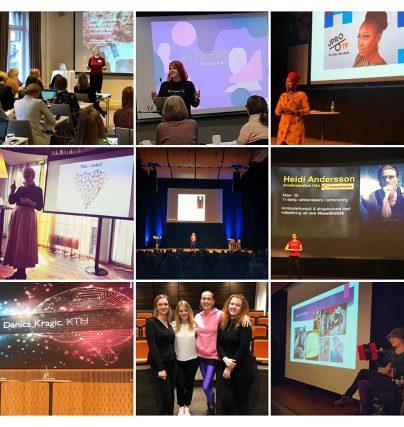 Föreläsning om robotik, rasism, hållbarhet, nätverkande och jämställdhet - de var några av talaruppdragen i april 2019.
