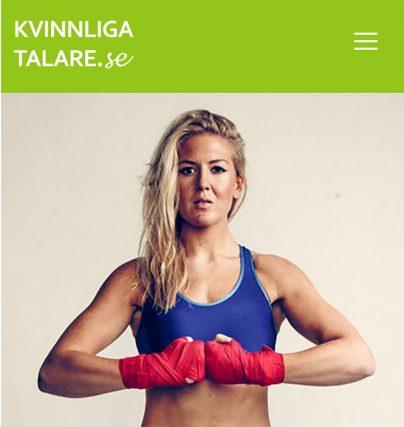 Boka en Klara Svensson föreläsning om boxning, mål, motivation och framgång.